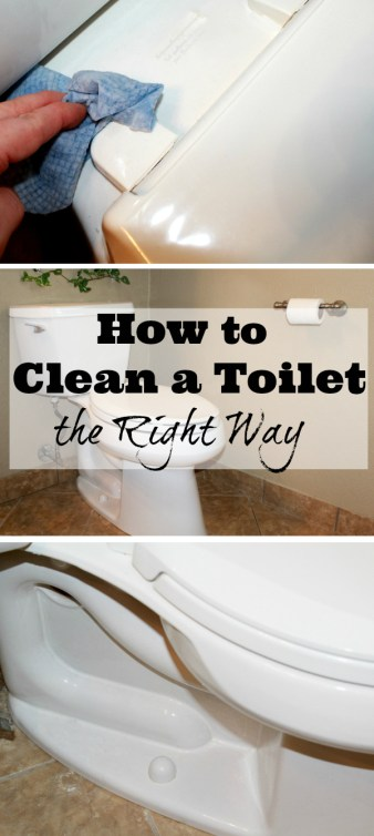 Clean a Toilet the right way, the first time!