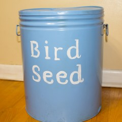 DIY Decorative Bird Seed Storage