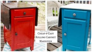 Cheap & Easy Rolling Cabinet Makeover
