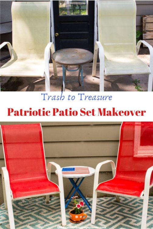 Trash to Treasure Patio Set Makeover