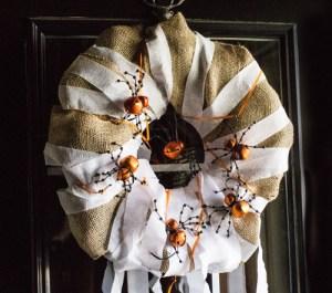 Upcycled Halloween Wreath DIY