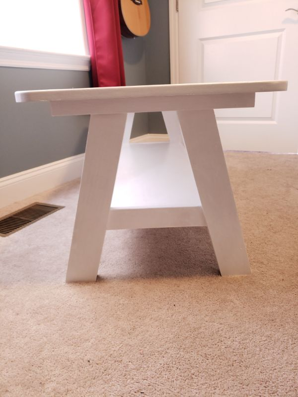 A-Frame Playroom Table, White - Leg Detail View