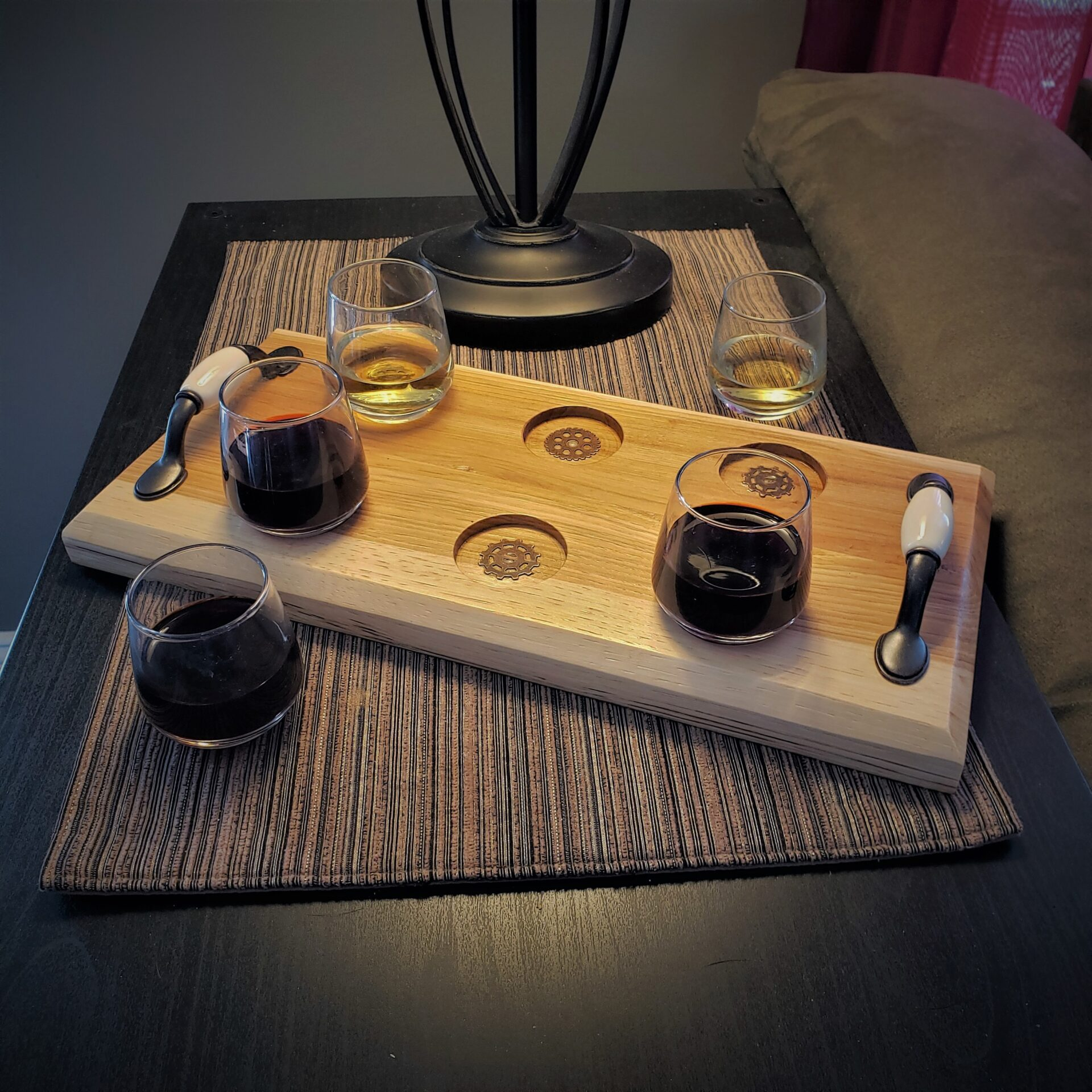 Tasting Tray with Steampunk Accents