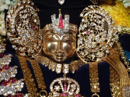 Picture C - Idol of  Srinivasa Perumal that was brought to Singapore for the Srinivasa Thirukalyanam by TTD