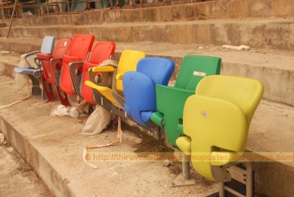 Various seats being environment tested for final selection