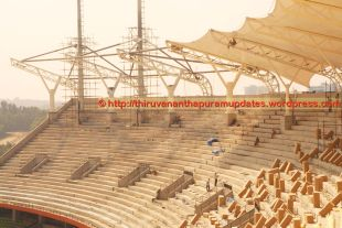Seating for top-bowl and remaining roofing work