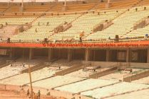 Lower bowl chairs being protected with dust-covers