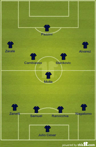 Ranieri's formation against Siena
