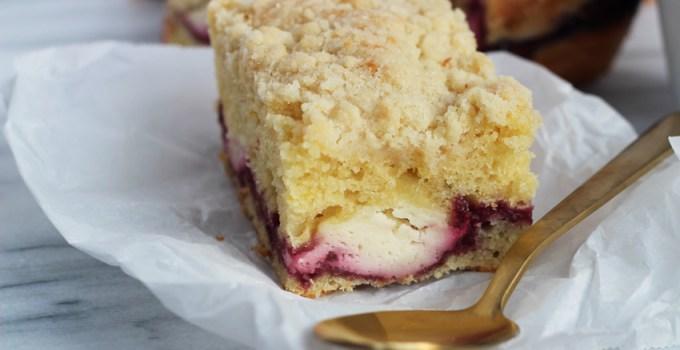 Maple Blackberry cream Cheese Coffee Cake
