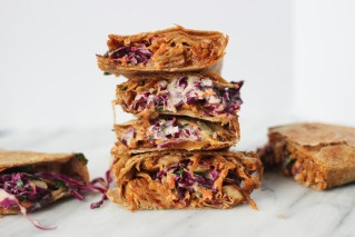 Bbq pulled jackfruit Quesadilla with slaw