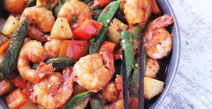 whole30 sweet and sour shrimp