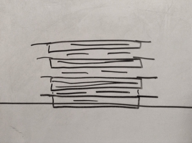 bad drawing of razor blades and plywood