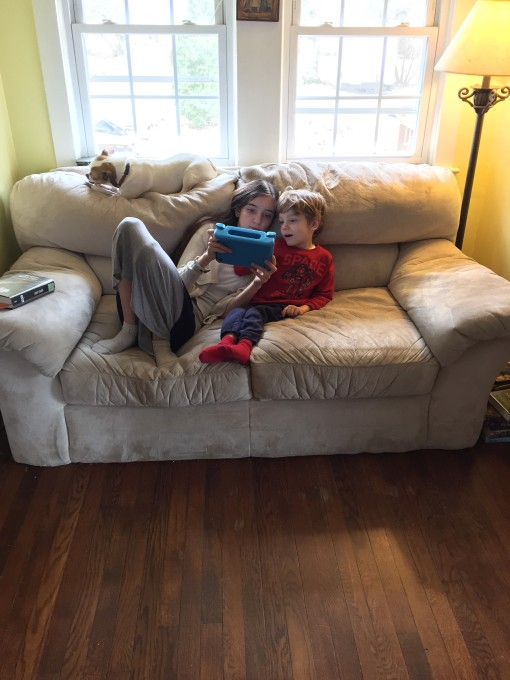 learning on the couch