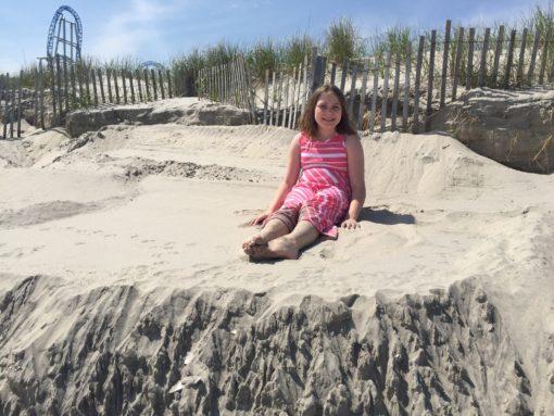 edie on sand dune