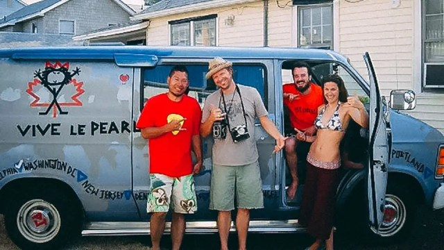 Danny Clinch with the Touring Van