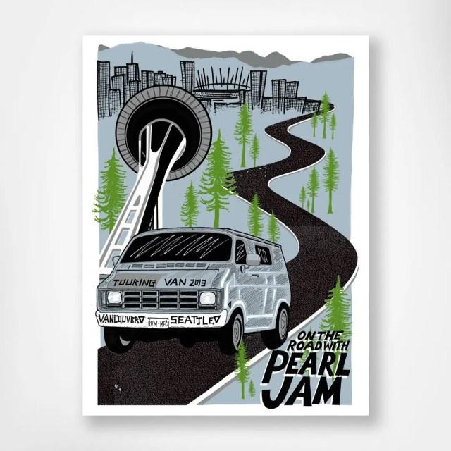 Touring Van 2013 Poster by Brian Methe
