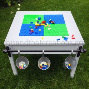 Kids creative building table (LEGO compatible) $240