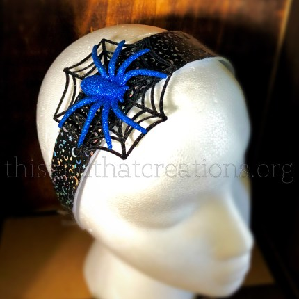 Blue Spider Headband $10