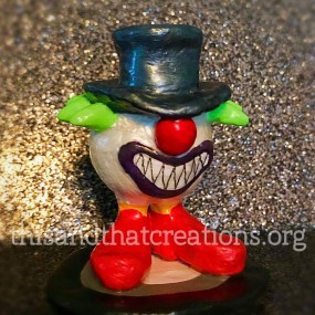 Crazy Gnome Clown Figurine $10
