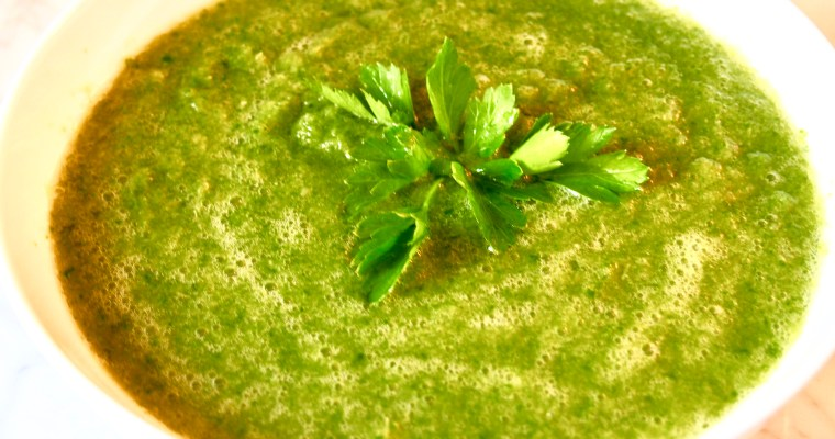 Raw Vegan Green Blender Soup