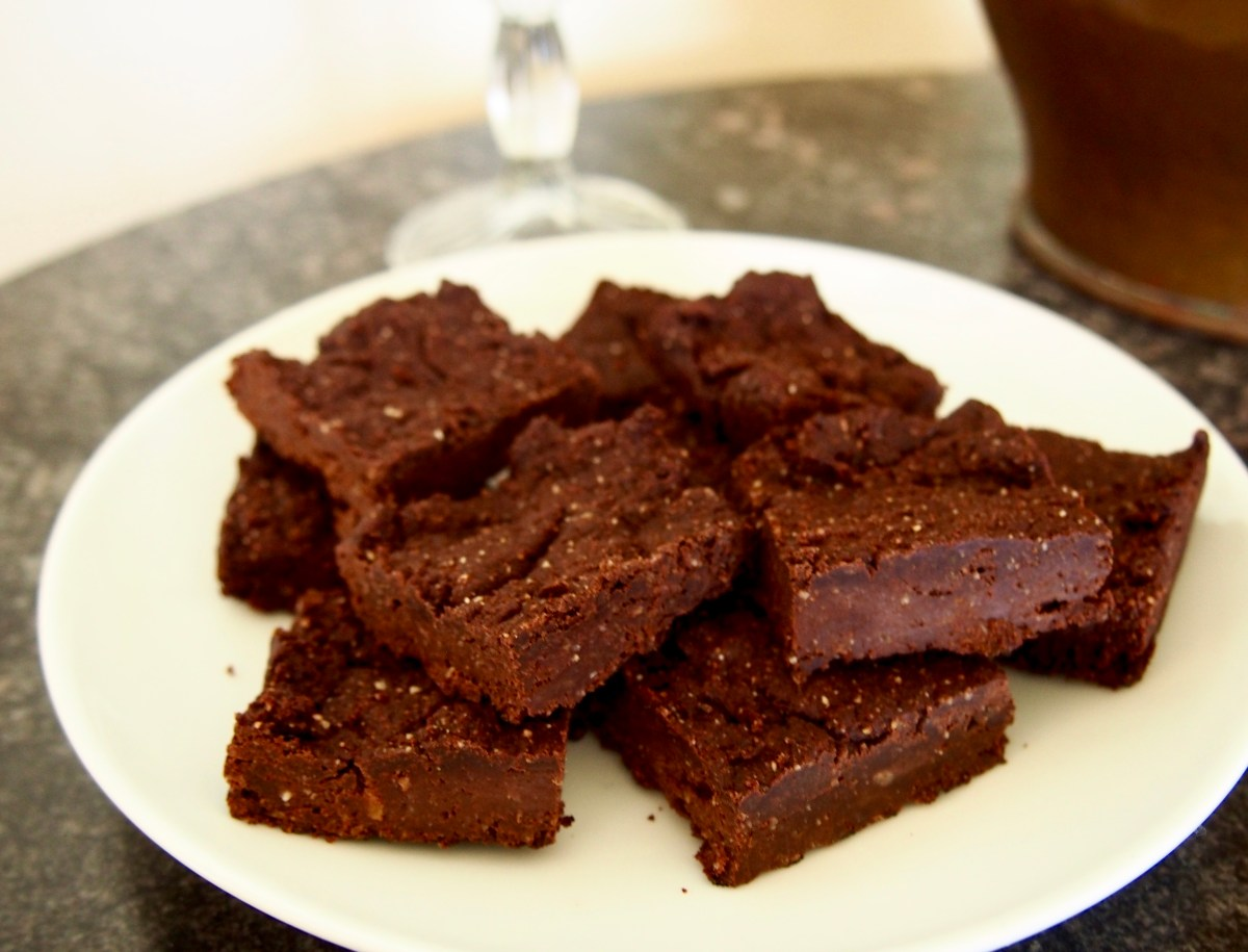 peanut butter brownies nut butter gluten-free, dairy-free, sugar-free, vegan