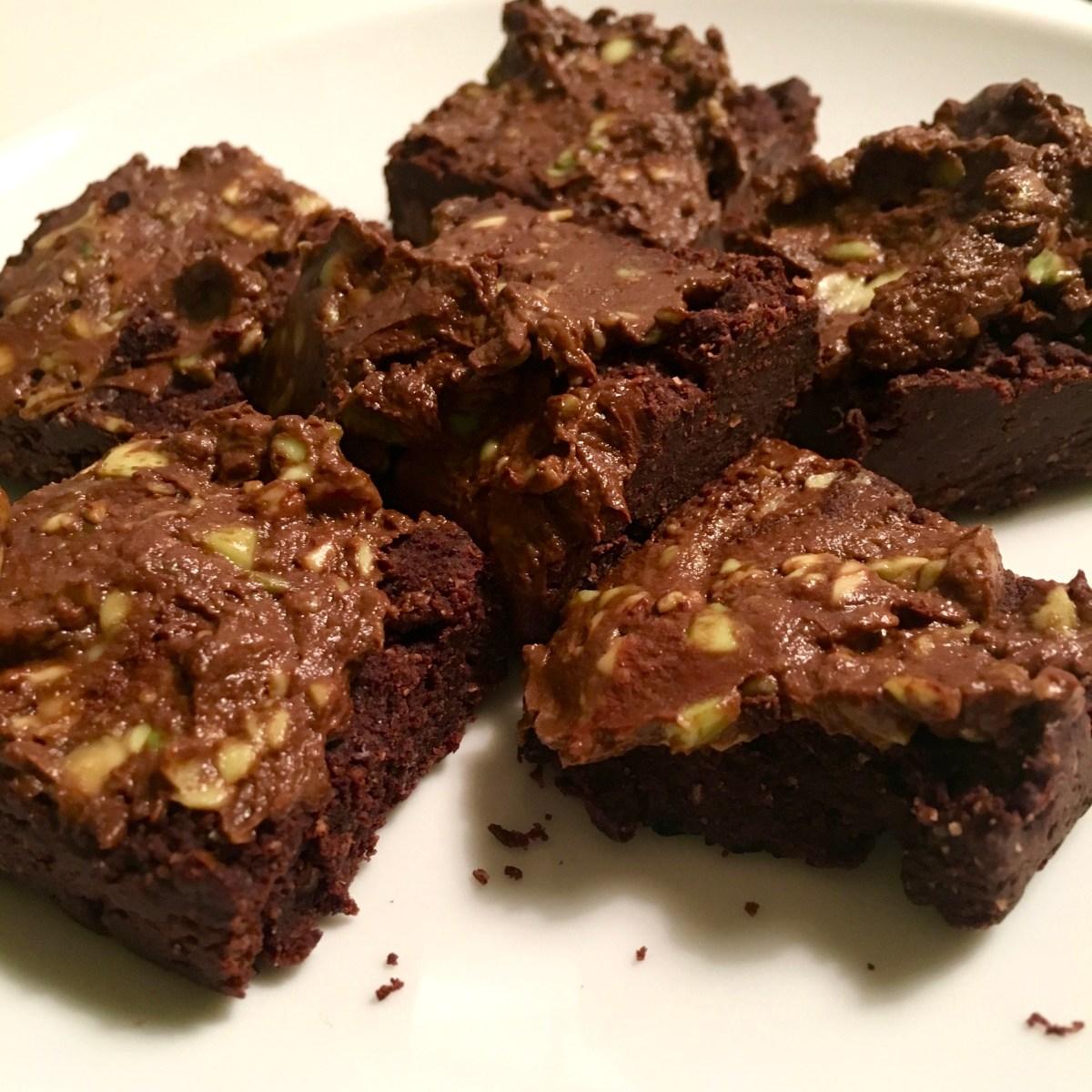 peanut butter brownie nut butter gluten-free, sugar-free, vegan, dairy-free