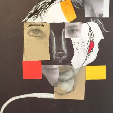 Teenagers- Abstract collage- self portraiture