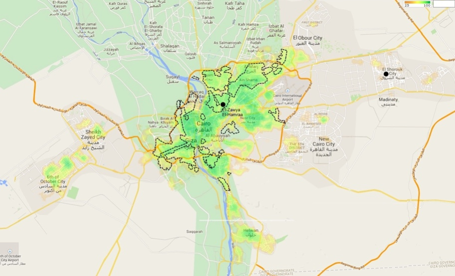 cairo walkability map