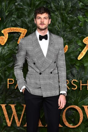 LONDON, ENGLAND - DECEMBER 10: Jim Chapman arrives at The Fashion Awards 2018 In Partnership With Swarovski at Royal Albert Hall on December 10, 2018 in London, England. (Photo by Jeff Spicer/BFC/Getty Images for BFC)