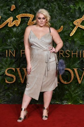 LONDON, ENGLAND - DECEMBER 10: Felicity Hayward arrives at The Fashion Awards 2018 In Partnership With Swarovski at Royal Albert Hall on December 10, 2018 in London, England. (Photo by Jeff Spicer/BFC/Getty Images for BFC)