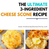 3 Ingredient Savory Cheese Scones