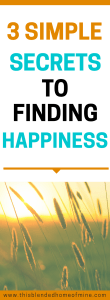 3 Simple Secrets to Finding Happiness - This Blended Home of Mine - How to be happy everyday, Tips on How to Be Happy