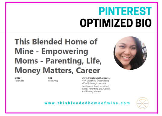 Grow your Pinterest Followers - Optimized Bio - This Blended Home of Mine