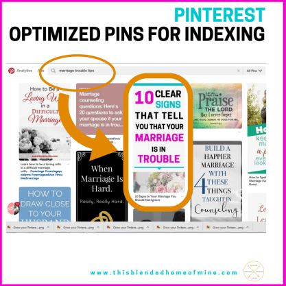 Grow your Pinterest Followers - Optimized Pins for Indexing - This Blended Home of Mine