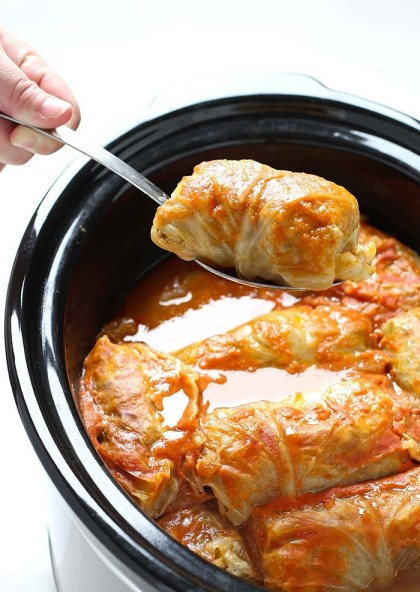 Easy Slow Cooker Recipes - Cabbage Rolls