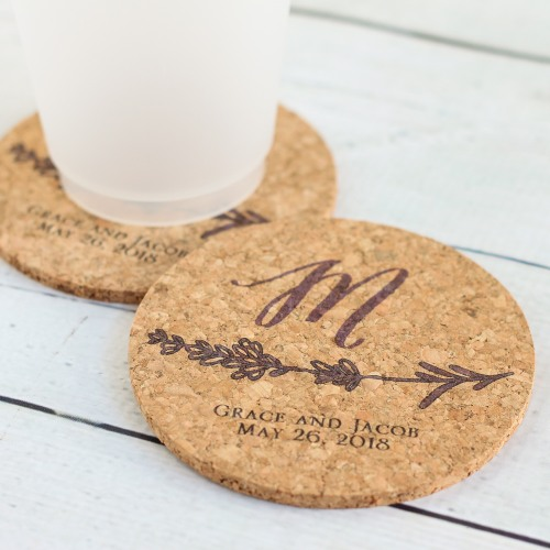 Wedding Favors That Won't Blow Up Your Budget - Personalized Cork Coasters