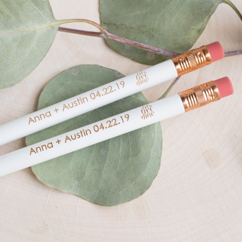 Wedding Favors That Won't Blow Up Your Budget - Personalized Wedding Pencils