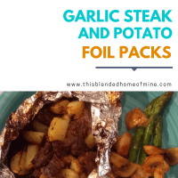 Garlic Steak and Potato Foil Packs