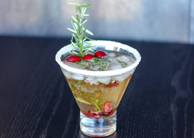 Mistletoe Cocktail - This Blended Home of Mine - Christmas Dinner Menu