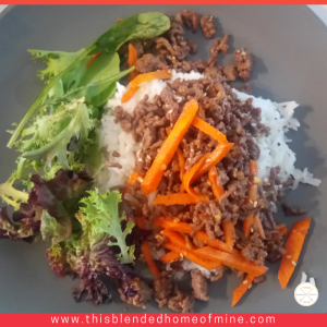 Korean Minced Beef Stir Fry - This Blended Home of Mine - Korean Beef Recipe, Ground Beef Recipes