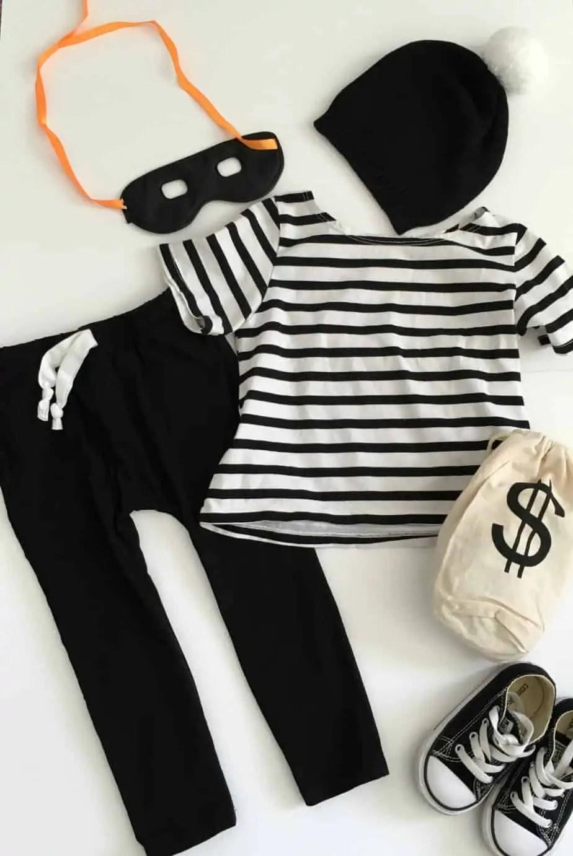 DIY Toddler Bank Robber Costume ... & DIY Toddler Bank Robber Costume! - This Bliss Life