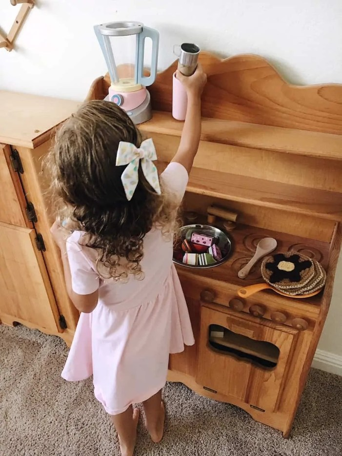 natural wood play kitchen