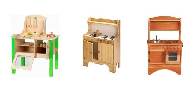 natural wood play kitchens