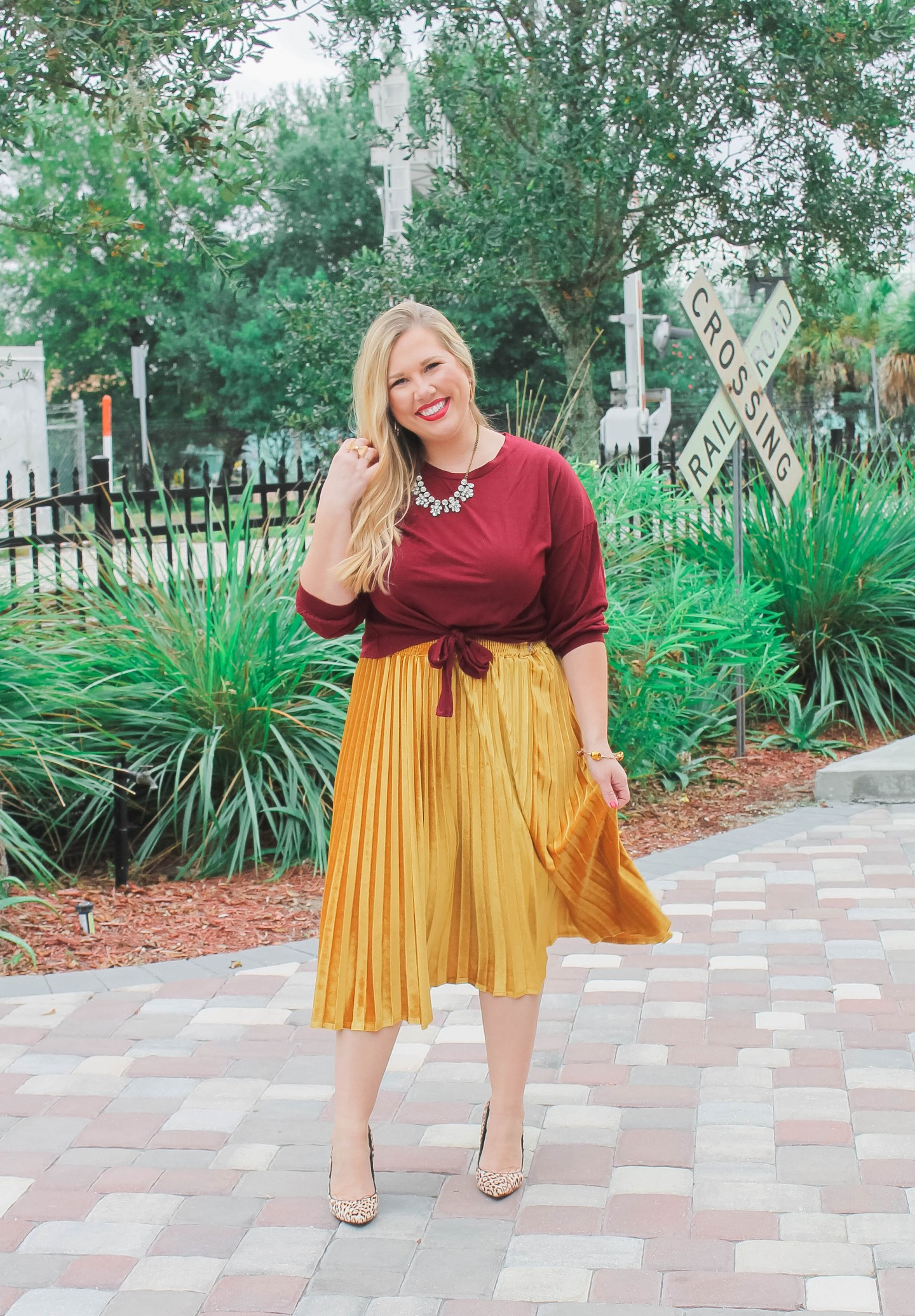 Festive Holiday Party Outfit (Velvet, Leopard + Bling)