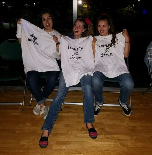 90s Dance Party shirts