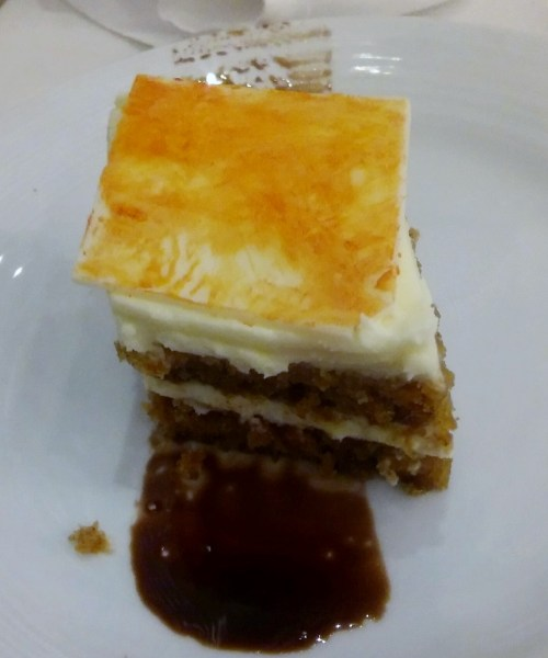 Carrot cake on our cruise