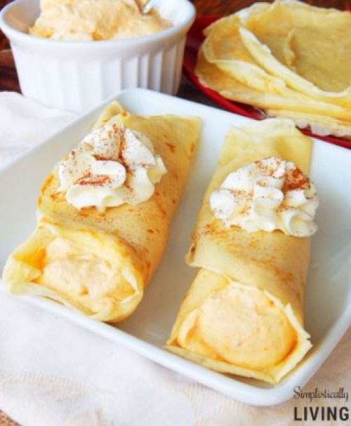 pumpkin crepes from Simplistically Living