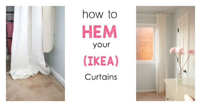 The Easiest Way To Hem Ikea Curtains