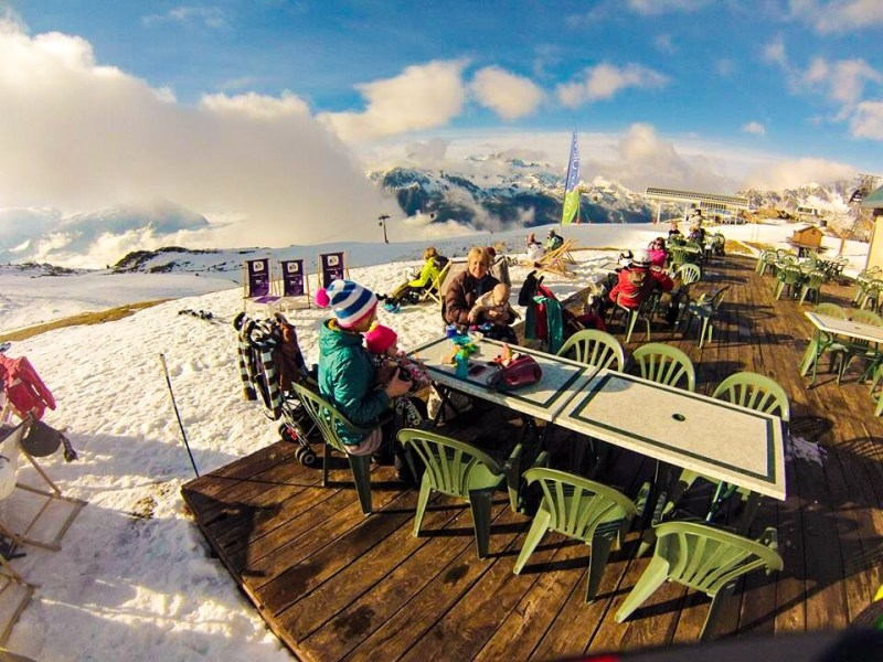 Catered chalet vaujany mountain restaurant