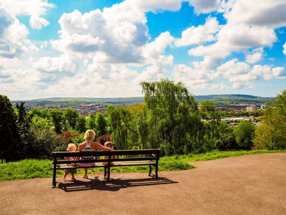 View from Cabot Tower, Bristol: free activities in Bristol to do with kids